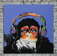 Hand Painted Abstract Animal Painting Orangutan Art on Wall ...