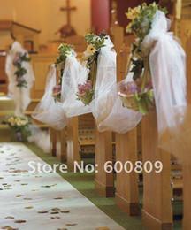 Il tulle fa decorazioni di nozze online-New Beautiful White Color Tulle Spool Roll 18''X120 Yards Mestieri Fiocco Decorazione di cerimonia nuziale Articoli per feste