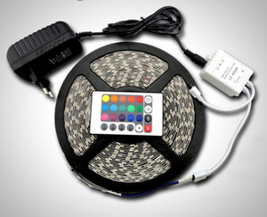Wholesale SMD RGB SMD LEDs Non Waterproof LED Strip Light RGB m roll Power Adapter Keys IR Remote