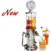 Wholesale Drink Dispenser Machine - FREE SHIPPING double gun barware mini beer pourer water liquid drink dispenser wine pump dispenser machine