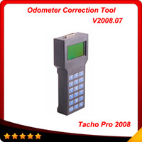 Wholesale Professional Tacho Pro - 2016 hot sale professional super tacho pro 2008 Odometer correction tool Tacho V2008 Multi-language free shipping