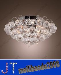 Wholesale Crystal Chrome Ceiling Lights - Modern simple Crystal Semi Flush Mount Chrome Finish Mini Stylish 3 Lights chandelier ceiling light Dia400*H150mm HSA327