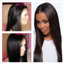 Wholesale Half Human Hair Wig - New arrival brazilian virgin human hair full lace wigs&front lace wigs straight natural color natural hair line