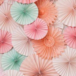 Wholesale Colorful Tissue - 30pcs 12inch Colorful TISSUE FLOWER FANS LUAU Summer Tropical Party Hanging Decoration (Diameter 36cm)