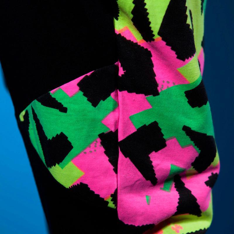 موضة جديدة رقيقة الحريم الهيب هوب الرقص السراويل نصب منصة Sweatpants جيوب الأزياء طباعة المرقعة سراويل رياضية الإناث