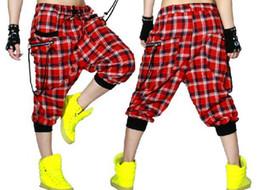 Wholesale Ds Dance - New fashion Women Hip hop Trousers dance wear pants patchwork ds costume spring summer female thin plaid harem sweatpants