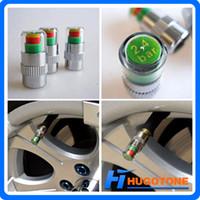 coches mazda kit al por mayor-2.4 Bar / 36PSI Alarma de presión de aire del neumático del automóvil Monitor Indicador del sensor Auto neumático Válvula del vástago Tapa de aire Kit de herramienta de alerta de aire