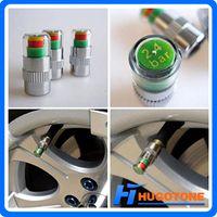 Wholesale Tire Pressure Monitor Set - New Arrival 2.4 Bar Indicator Tire Valve Stem Cap Car Auto Pressure Monitor Valve Stem Caps 4PCS Set 36PSI Free Shipping Dropshipping