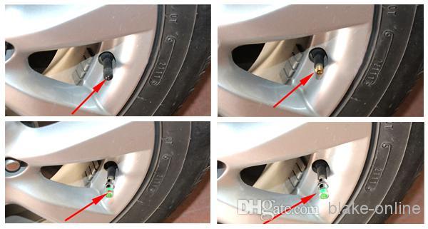 2.0/2.2/2.4/2.6 Bar Car Pressure Monitor Sensor Indicator Auto Tire Valve Stem Cap Eye Alert Diagnostic Tool