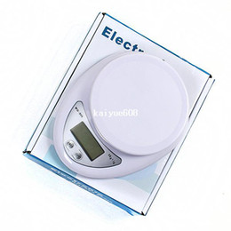 Wholesale Weight Scale Oz - S247 5kg 1g Digital Postal Cooking Food Diet Grams Kitchen Scale Healthy OZ LB 5000g (White Color) Electronic Weight Balance
