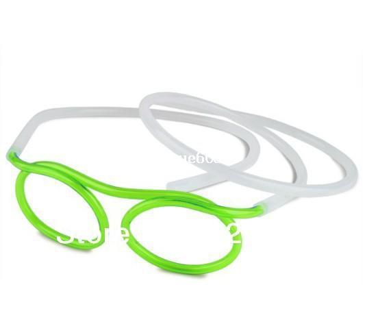 20 PZ / LOT Articoli novità Incredibile Paglia Silly Bere Occhiali Montature per occhiali Piped 5 colori miglior regalo bambino, drink decorazioni