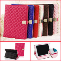 Wholesale Ipad Case Diamond Crystal - LUXURY CRYSTAL DIAMOND QUILTED STAND LEATHER MAGNETIC CASE COVER FOR IPAD234 IPAD AIR IPAD MINI
