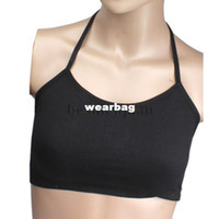 Wholesale Hot Tube Bra - Wholesale-New Hot Sale Strapless Bandeau Halter Tube Top Vest Crop Bra Black Beige