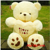Wholesale Love Teddy Bear Doll - new year gift christmas gift Hold the heart bear love panda bear large teddy bear hug heart heart bear plush toy doll