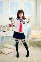 Wholesale Sexy Pure School - sexy underwear game uniforms Costumes pure Japanese school uniforms japan student clothes long sleeve shirt and short skirt