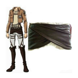 Wholesale Sleeveless Aprons - women fashion apron Attack on Titan (Shingeki No Kyojin) PU Leather Cosplay Buttocks Women pinafore skirt
