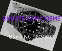 dlc venda por atacado-Relógios de luxo Moda Masculina DLC Revestimento PVD Mens Automático de Pulso 116660 Cerâmica Bezel Sapphire Vidro Dive Relógios de Alta Qualidade