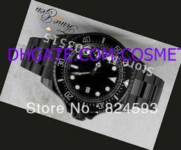 Relojes de buceo de alta calidad online-Relojes de lujo Moda Hombre DLC negro PVD Coating Mens muñeca automática 116660 Cerámica Bisel Zafiro Vidrio Dive relojes de alta calidad