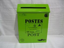 Wholesale Post Card Box - Inexpensive Wedding Invitation Card Box Wedding Decoration postal box mail mailbox post box Metal Home Decoration