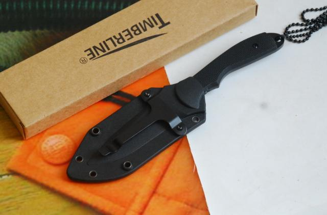 7223 TIMBERLINE Mini PIT BULL LIGHTFOOT Design Knife With Necklace Neck knives Fixed blade knife camping knife knives with retail box 12ps
