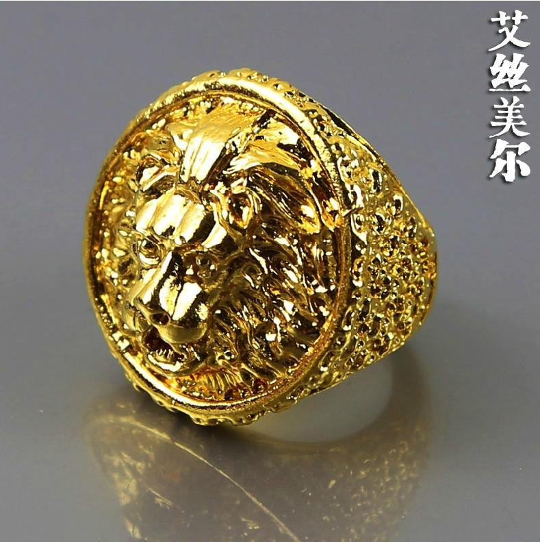 High Quality Fashion 24k Gold Filled Exaggerated Big Rings Hiphop