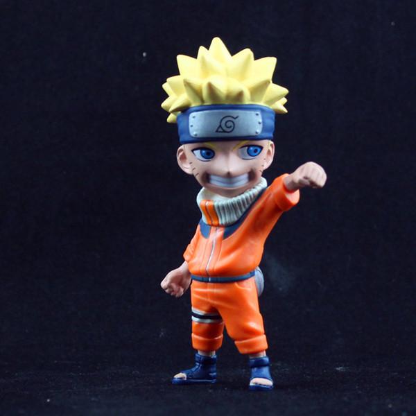 Action Figures Anime giapponese Naruto Q versione in PVC giocattoli Nuovo 2014 disegni Alta qualità modello Collection 1pcs / lot per il bambino spedizione gratuita
