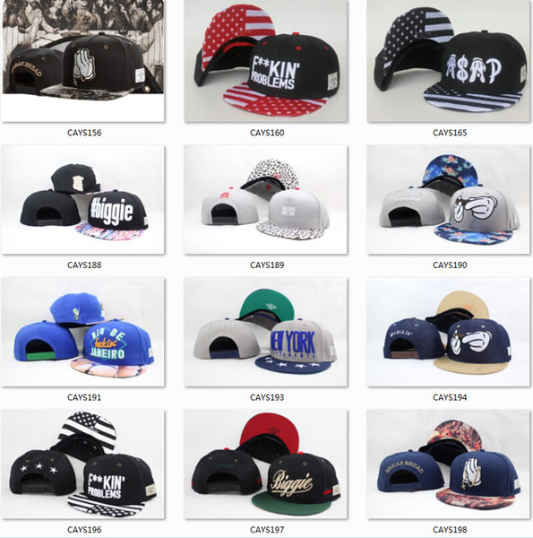 best selling Snapbacks Hat Cayler & Sons Hip Hop fashion Snapbacks adjustable Hats Men Caps Women Ball Caps Top quality Snapback caps