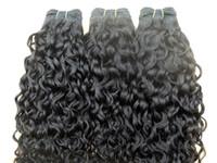 renk 32 saç örgüsü toptan satış-Yeni yıldız brezilyalı kıvırcık saç atkı kraliçe saç kıvırmak örgüleri işlenmemiş doğal siyah renk 3 demetleri insan uzantıları boyalı olabilir