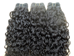 Curly Human Hair Can Dyed Canada - new star brazilian curly hair weft queen hair curl weaves unprocessed natural black color 3 bundles human extensions can be dyed