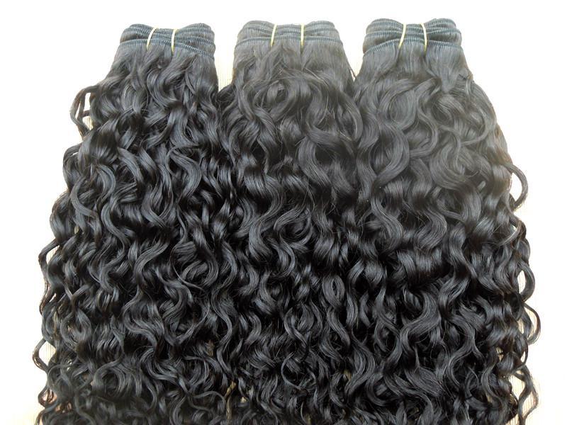 새로운 스타 브라질의 곱슬 머리 weft의 여왕 머리 컬 곱슬이 처리되지 않은 자연의 블랙 컬러 3 번들 인간의 확장은 염색 수 있습니다