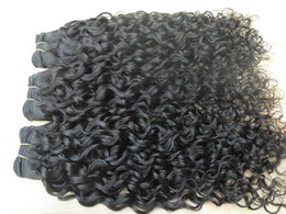 Curly Human Hair Can Dyed Canada - new brazilian curly hair weft curl weaves unprocessed natural black color human extensions can be dyed 1piece