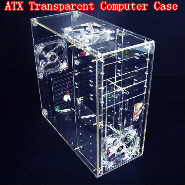 2019 Diy Acrylic Full Transparent Computer Case Vertical Computer