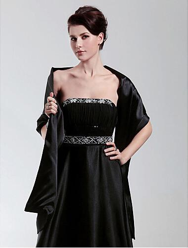 Varm försäljning stretch satin wrap sjal ny stil speciellt tillfälle kvinnor formella klänningar shrugs bröllop wraps