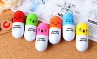 Wholesale Capsule Pens - Wholesale Office supplies Retractable pen Ball point cartoon Telescopic face Capsule pills Pen