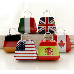 Wholesale Metal Bag Flag - Mini Small Tin Coin Box Purse Case Jewelry Storage Boxes For Earrings Necklace Handbag Bag Candy Box British Flags