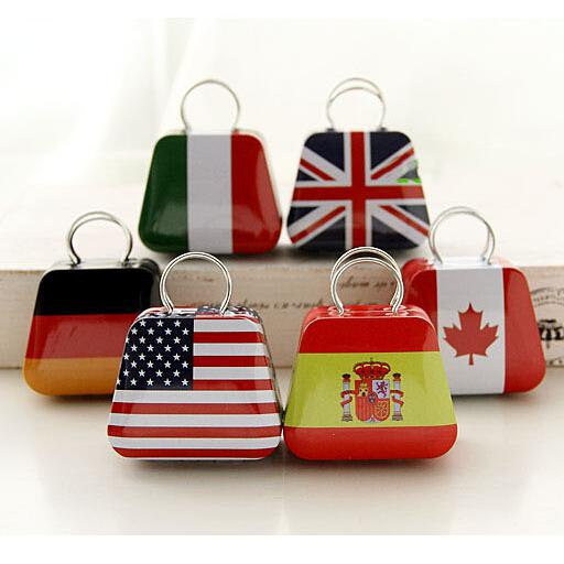 best selling Mini Small Tin Coin Box Purse Case Jewelry Storage Boxes For Earrings Necklace Handbag Bag Candy Box British Flags