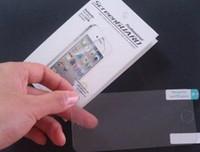 ekran koruyucusu iphone 5s saydam saydam toptan satış-Şeffaf Clear Ekran Koruyucu LCD Ön Ekran Filmi Guard Vaka iPhone 4 4 S 5 5 S 5C Perakende Paketi ile