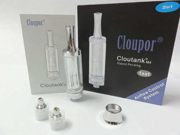 ORIGINAL Cloutank M4 vaporizer Airflow Control Cloupor m4 atomizer cartomizer Clear 2in1 dry herb kit DHL Free