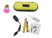 Wholesale E Cigarettes Metal Carry Case - eGo CE4 starter kit Electronic Cigarette kits E cig CE4 Atomizer Clearomizer ego battery ego kit Zipper carry case DHL Free Shipping