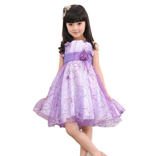 الصيف الشيفون الدانتيل جميلة عارضة أكمام فساتين الأميرة طفلة ملابس الأطفال 5 اللون