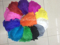 Wholesale Turquoise Black Wedding Decorations - wholesale--100 pcs ot 12-14inch Ostrich Feathers plume White,Black,Royal Blue,Green,Turquoise,Yellow,Orange,Fushia,Gray,Pink,Purple,Red,Gold