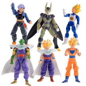 Wholesale New Dragonball Z Dragon Ball DBZ Anime Joint Movable Action Figure Toy 6 pcs Set