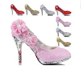 Wholesale Sparkle Diamond Prom Dresses - New Best Sparkling Flowers Diamond Wedding Women's Dress Shoes 2014 Bride Bridesmaid 10CM High Heels Party Prom Shoes