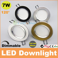 Wholesale Downlight House - 7W dimmable led downlight 4 housing recessed ceiling light 120 beam angle AC110V-240V CE SAA C-tick TUV 3 years warranty 30pcs+ free ship