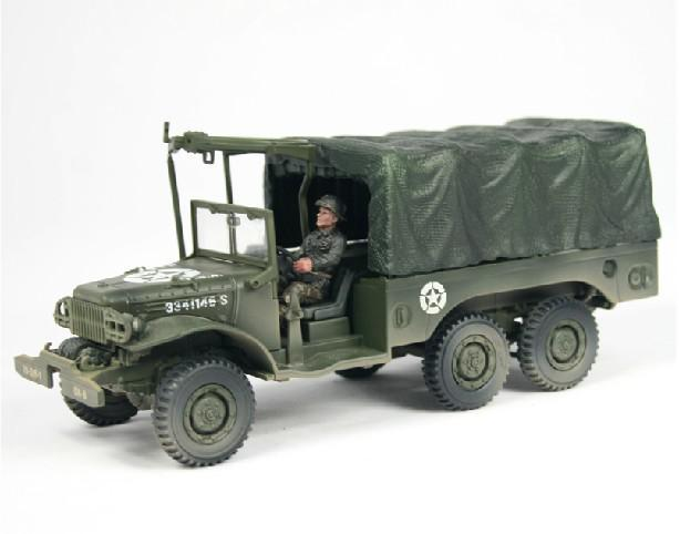 2018 1/32 Fov American 6*6 Dodge Wc 63 Military Truck Diecast Model, Realistic Collectible Model ...