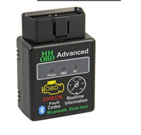 Wholesale Can Interface Ecu - Hhobd Torque Android Bluetooth OBD2 OBDII Wireless CAN BUS Check Engine Auto Scanner Interface Adapter ECU Code Reader Scan tool