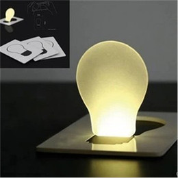 Wholesale Emergency Led Bulb Lights - LED Card Light Easy Carry LED Light Mini Card Wallet Pocket Lamp Bulb Shape Pocket Light Mini Led Card lamp