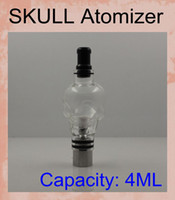 Wholesale Ego Skull Battery - Skull Glass Globe Wax Vaporizer Glass Tank DOME GLOBE atomizer Replacement Vapor vs dry herb claromizer herbal tanks for ego battery ATB015