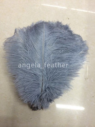 $enCountryForm.capitalKeyWord Canada - Wholesale - Gray Ostrich Feathers Plume 50 pcs a lot 12-14inch fluffy ostrich feather used in wedding decoration and DIY Headdress Trousers