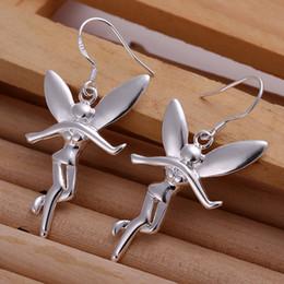Wholesale favorite design - Pretty Gift 925 Silver Shining Beautiful angel Design Earrings ladies favorite earrings 10pairs
